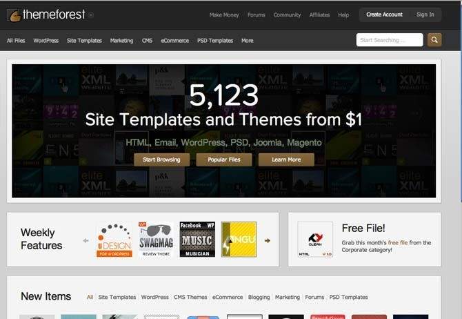 design templates - commoditizing web design